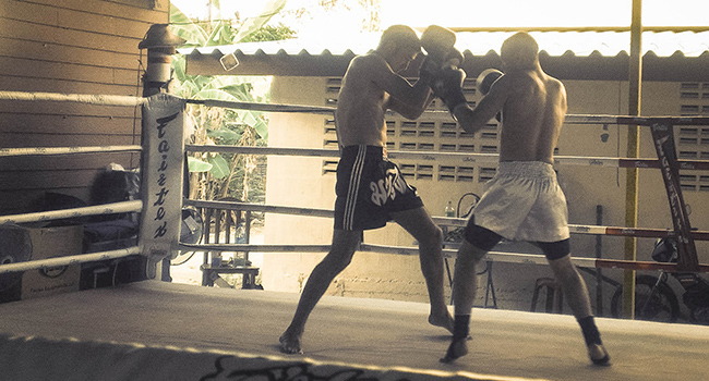 Sparring is an opportunity to put your skills to the test.
